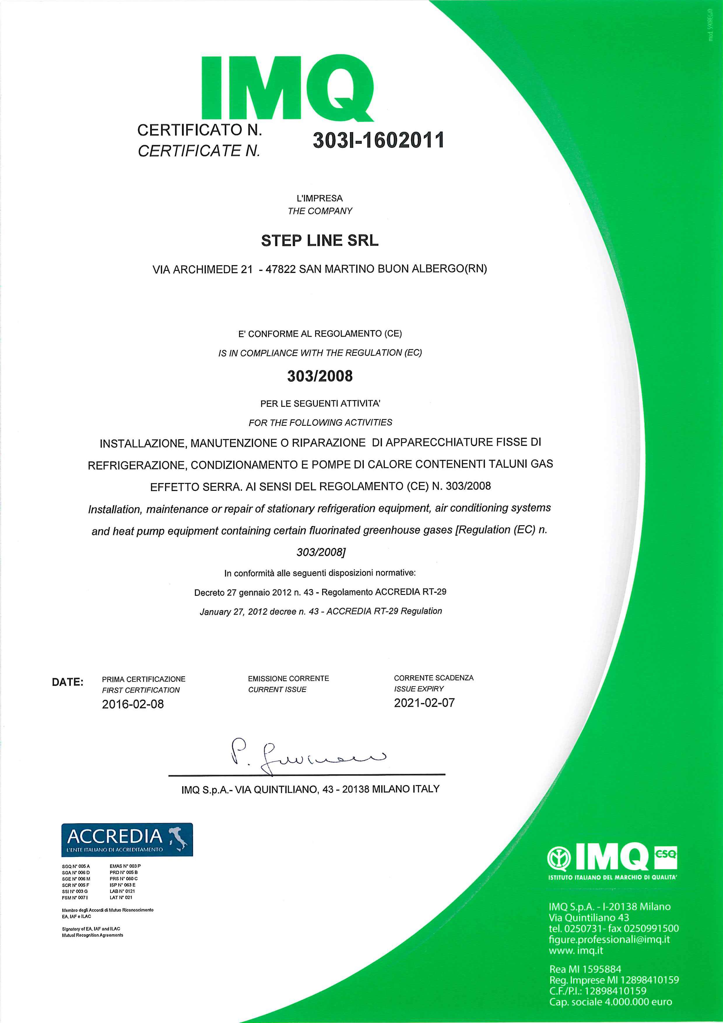 ISO CERTIFICATO 42397_Step_Line_Srl